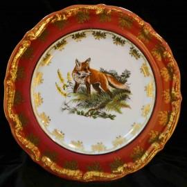 Тарелка десертная 19см Охота красная МТ