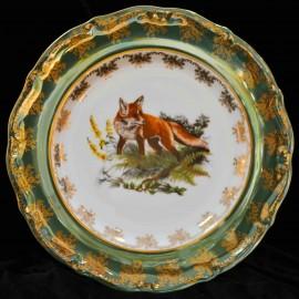 Тарелка десертная 19см Охота зеленая МТ