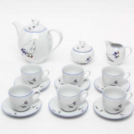 Кофейный сервиз 15 предметов Гуси