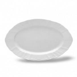 Блюдо овальное 34 см не декорированное