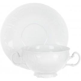 Чашка с блюдцем для бульона 180 мм не декорированное