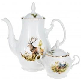 Кофейный сервиз Thun 1794 as декор Охотничьи сюжеты
