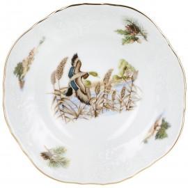 Салатник круглый 16 см декор Охотничьи сюжеты