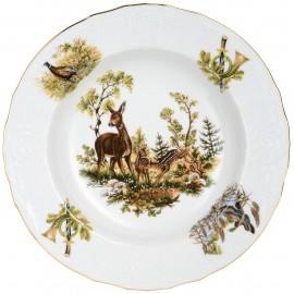 Тарелка глубокая 23 см декор Охотничьи сюжеты