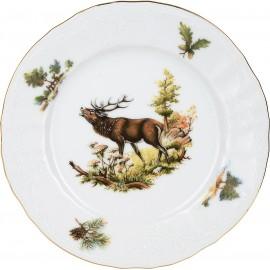 Тарелка десертная 17 см (6 шт) декор Охотничьи сюжеты