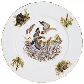 Тарелка мелкая 25 см декор Охотничьи сюжеты