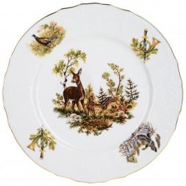 Тарелка мелкая 27 см декор Охотничьи сюжеты