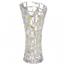"""Ваза """"PATRIOT GOLD"""", 33 см из хрусталя Crystal Bohemia"""