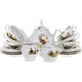 Чайный сервиз Thun 1794 as декор Охотничьи сюжеты