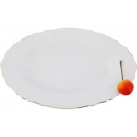 Блюдо овальное 24 см на 15 см декор Отводка золото