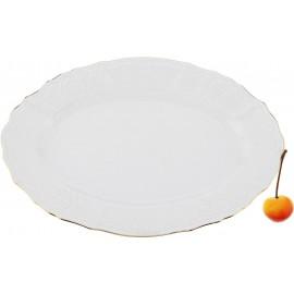 Блюдо овальное 15 см на 26 см декор Отводка золото