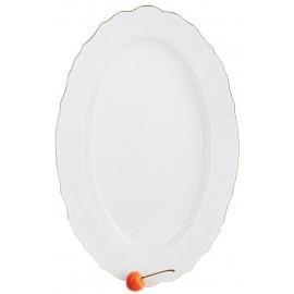 Блюдо овальное 39 см декор Отводка золото