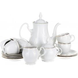 Кофейный сервиз Thun 1794 as декор Отводка золото