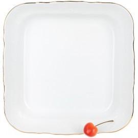 Салатник квадратный 25 см декор Отводка золото