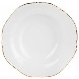 Салатник круглый 13 см декор Отводка золото