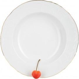 Тарелка глубокая 23 см декор Отводка золото