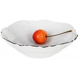 Салатник круглый 13 см декор Деколь отводка платина