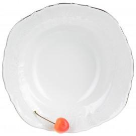 Салатник круглый 23 см декор Деколь отводка платина
