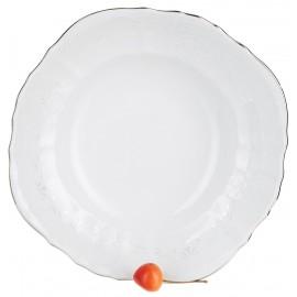 Салатник круглый 25 см декор Деколь отводка платина