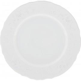 Тарелка десертная 17 см декор Деколь отводка платина