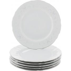 Тарелка десертная 19 см декор Деколь отводка платина