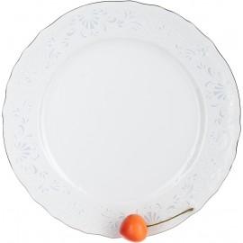 Тарелка мелкая 21 см декор Деколь отводка платина