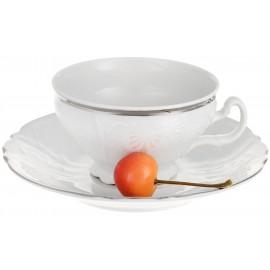 Чайный сервиз Thun 1794 as декор Деколь отводка платина