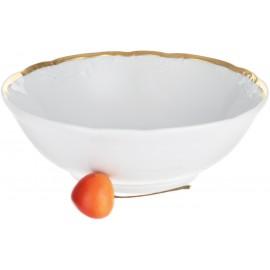 Салатник 16 см Белоснежный тюльпан золотые держатели