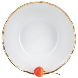 Салатник 19 см Белоснежный тюльпан золотые держатели
