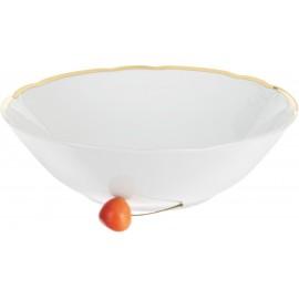 Салатник 25 см Белоснежный тюльпан золотые держатели