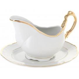 Чайный сервиз TULIP чашка 165 мм (320 мл) Белоснежный тюльпан золотые держатели