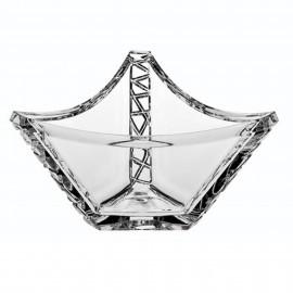 "Салатник ""ICE GLAMOUR SKI"", 21,5 см из хрусталя Crystal Bohemia"