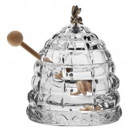 "Доза для меда ""Улей с пчелкой"" BOXES, 11,8 см из хрусталя Crystal Bohemia"