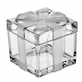 Доза-шкатулка с матовым бантом BOXES 7,2 см. из хрусталя Crystal Bohemia