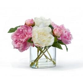 Композиция Бело-розовые Пионы