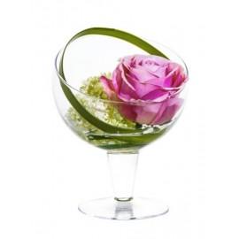 Композиция Solo (Роза розовая с вибурном)