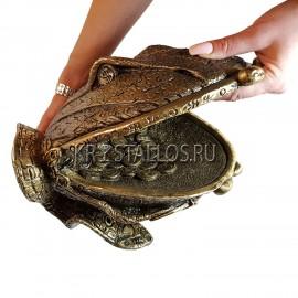 Статуэтка жаба денежная, кошелёк бронзовое напыление