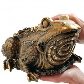 Статуэтка жаба денежная бронзовое напыление