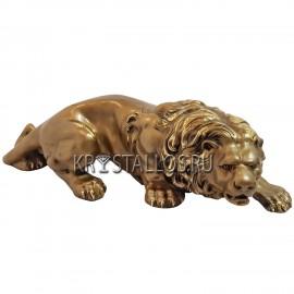 Статуэтка лев бронзовое напыление