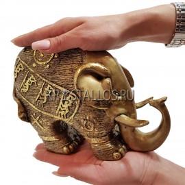 Статуэтка слон бронзовое напыление
