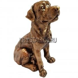 Статуэтка собака бронзовое напыление