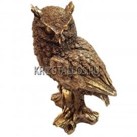 Статуэтка сова бронзовое напыление