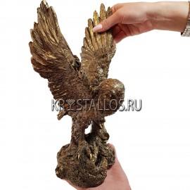 Статуэтка сова в полёте бронзовое напыление