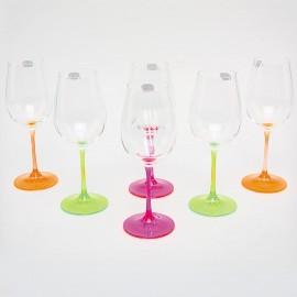 Бокалы для шампанского Виола 350 мл. 6 шт. Crystalex Bohemia