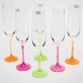 Бокалы для шампанского Виола 190 мл. 6 шт. Crystalex Bohemia