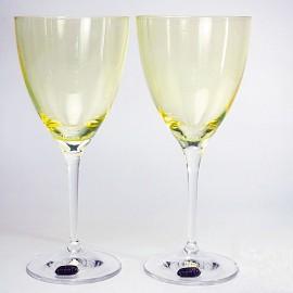 Бокалы для вина Кейт 40796 Colours жёлтые 250 мл. 2 шт. Crystalex Bohemia
