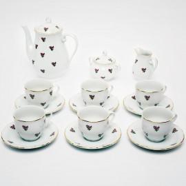 Кофейный сервиз 15 пр. Верона OMD1323 Газенка из фарфора Crystalex
