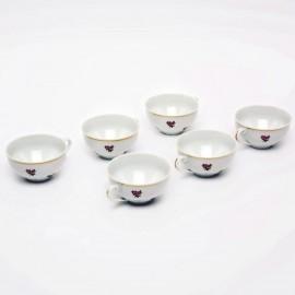 Чайная пара 6шт. Верона OMD1323 Газенка из фарфора Crystalex
