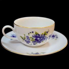 Чайный сервиз 15 пр. Ивон OMD001 Незабудка из фарфора Crystalex