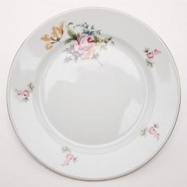 Тарелка десертная 17 см. 6шт. Ивон OMD1811 Мейсенский букет из фарфора Crystalex